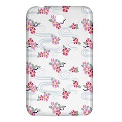 Flower Arrangements Season Sunflower Pink Red Waves Grey Samsung Galaxy Tab 3 (7 ) P3200 Hardshell Case