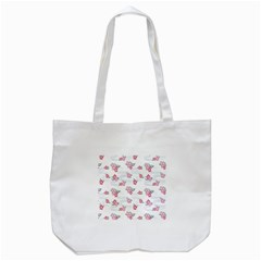 Flower Arrangements Season Sunflower Pink Red Waves Grey Tote Bag (White)