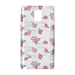 Flower Arrangements Season Sunflower Pink Red Waves Grey Samsung Galaxy Note 4 Hardshell Case