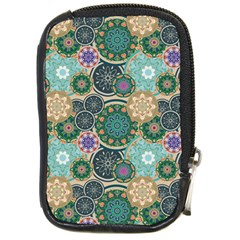 Flower Sunflower Floral Circle Star Color Purple Blue Compact Camera Cases