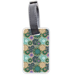 Flower Sunflower Floral Circle Star Color Purple Blue Luggage Tags (One Side)