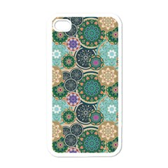Flower Sunflower Floral Circle Star Color Purple Blue Apple iPhone 4 Case (White)
