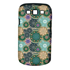 Flower Sunflower Floral Circle Star Color Purple Blue Samsung Galaxy S III Classic Hardshell Case (PC+Silicone)