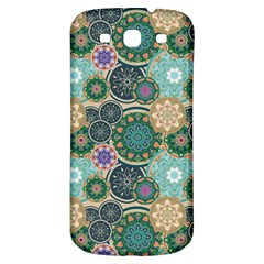 Flower Sunflower Floral Circle Star Color Purple Blue Samsung Galaxy S3 S Iii Classic Hardshell Back Case