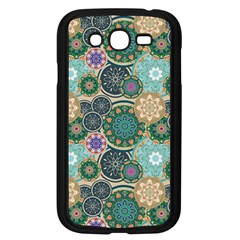Flower Sunflower Floral Circle Star Color Purple Blue Samsung Galaxy Grand DUOS I9082 Case (Black)