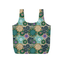 Flower Sunflower Floral Circle Star Color Purple Blue Full Print Recycle Bags (S)