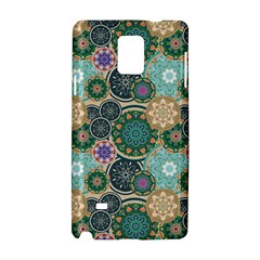 Flower Sunflower Floral Circle Star Color Purple Blue Samsung Galaxy Note 4 Hardshell Case
