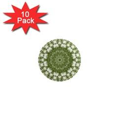 Mandala Center Strength Motivation 1  Mini Magnet (10 Pack)