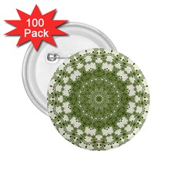 Mandala Center Strength Motivation 2 25  Buttons (100 Pack)