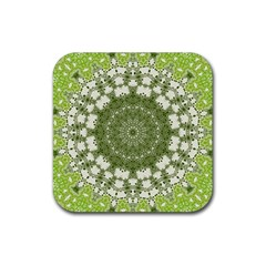 Mandala Center Strength Motivation Rubber Coaster (Square)