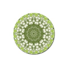 Mandala Center Strength Motivation Magnet 3  (Round)