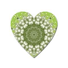 Mandala Center Strength Motivation Heart Magnet