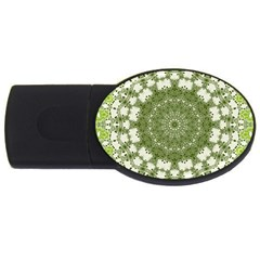 Mandala Center Strength Motivation Usb Flash Drive Oval (2 Gb)