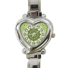 Mandala Center Strength Motivation Heart Italian Charm Watch