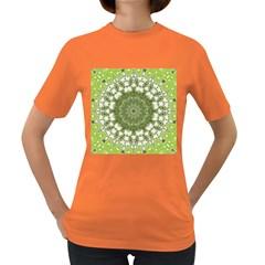 Mandala Center Strength Motivation Women s Dark T Shirt