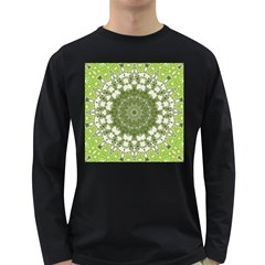Mandala Center Strength Motivation Long Sleeve Dark T Shirts