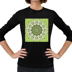 Mandala Center Strength Motivation Women s Long Sleeve Dark T Shirts