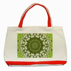 Mandala Center Strength Motivation Classic Tote Bag (red)
