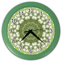 Mandala Center Strength Motivation Color Wall Clocks