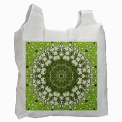 Mandala Center Strength Motivation Recycle Bag (two Side)