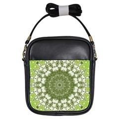 Mandala Center Strength Motivation Girls Sling Bags