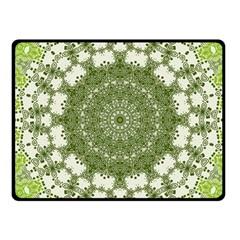 Mandala Center Strength Motivation Fleece Blanket (small)
