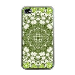 Mandala Center Strength Motivation Apple Iphone 4 Case (clear)