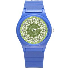 Mandala Center Strength Motivation Round Plastic Sport Watch (s)