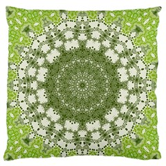 Mandala Center Strength Motivation Large Flano Cushion Case (one Side)