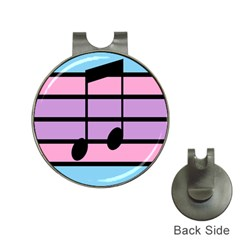 Music Gender Pride Note Flag Blue Pink Purple Hat Clips With Golf Markers