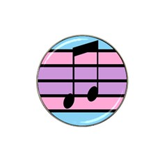 Music Gender Pride Note Flag Blue Pink Purple Hat Clip Ball Marker