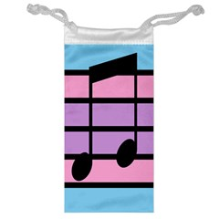 Music Gender Pride Note Flag Blue Pink Purple Jewelry Bag