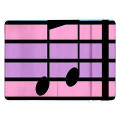Music Gender Pride Note Flag Blue Pink Purple Samsung Galaxy Tab Pro 12.2  Flip Case