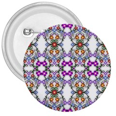 Floral Ornament Baby Girl Design 3  Buttons