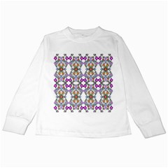 Floral Ornament Baby Girl Design Kids Long Sleeve T-Shirts