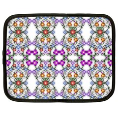 Floral Ornament Baby Girl Design Netbook Case (xl)