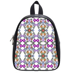 Floral Ornament Baby Girl Design School Bags (small)