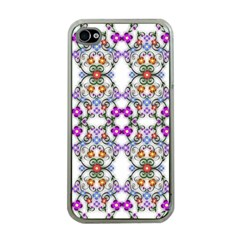 Floral Ornament Baby Girl Design Apple Iphone 4 Case (clear)