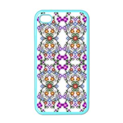 Floral Ornament Baby Girl Design Apple iPhone 4 Case (Color)