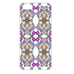 Floral Ornament Baby Girl Design Apple iPhone 5 Seamless Case (White)