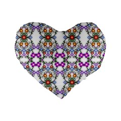 Floral Ornament Baby Girl Design Standard 16  Premium Heart Shape Cushions