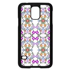 Floral Ornament Baby Girl Design Samsung Galaxy S5 Case (black)