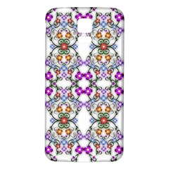 Floral Ornament Baby Girl Design Samsung Galaxy S5 Back Case (white)