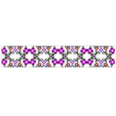 Floral Ornament Baby Girl Design Flano Scarf (Large)