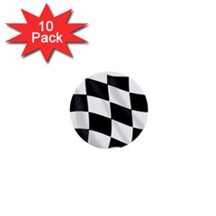 Flag Chess Corse Race Auto Road 1  Mini Buttons (10 Pack)