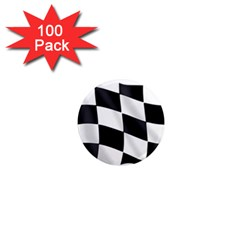 Flag Chess Corse Race Auto Road 1  Mini Magnets (100 Pack)