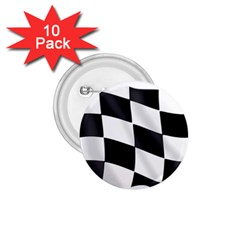 Flag Chess Corse Race Auto Road 1.75  Buttons (10 pack)