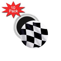 Flag Chess Corse Race Auto Road 1 75  Magnets (10 Pack)