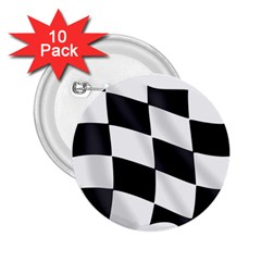 Flag Chess Corse Race Auto Road 2.25  Buttons (10 pack)