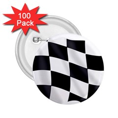 Flag Chess Corse Race Auto Road 2 25  Buttons (100 Pack)
